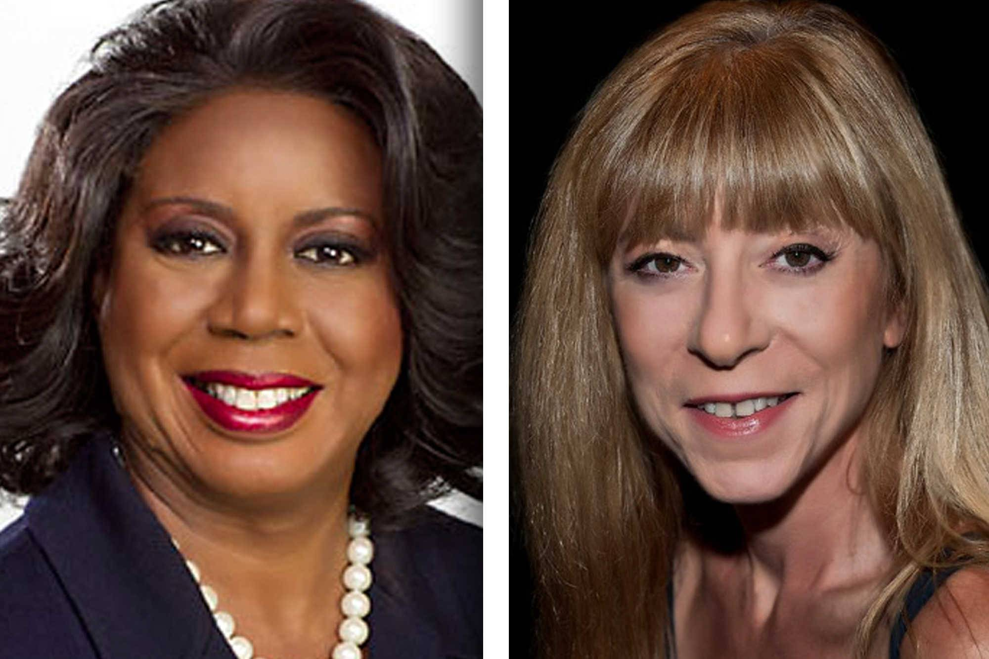 Democrat Dorothy Brown, left, and Republican Diane Shapiro are candidates for Cook County circuit court clerk.
