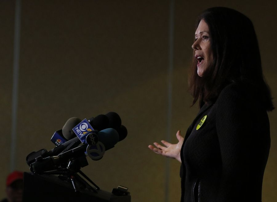 "Defense attorney Kathleen Zellner talks about the Melissa Calusinski case Friday in Waukegan. Zellner said ""the judge totally missed the point"" in refusing to grant a new trial for the Carpentersville woman."