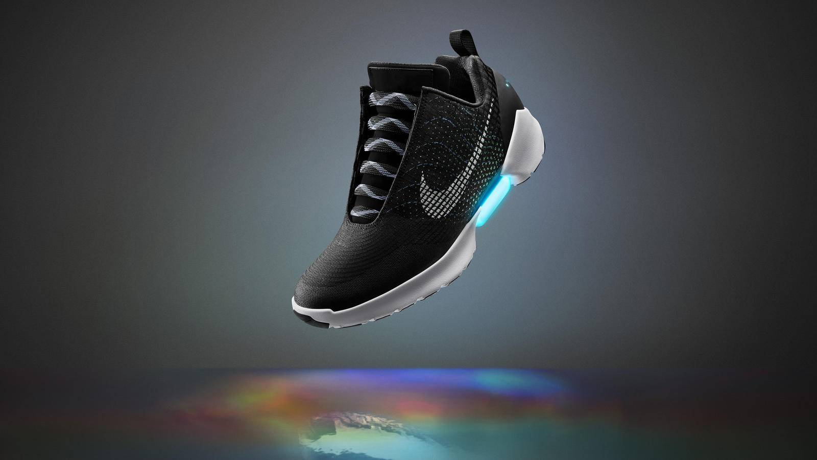 Nike HyperAdapt 1.0 sneakers with self-tightening laces.