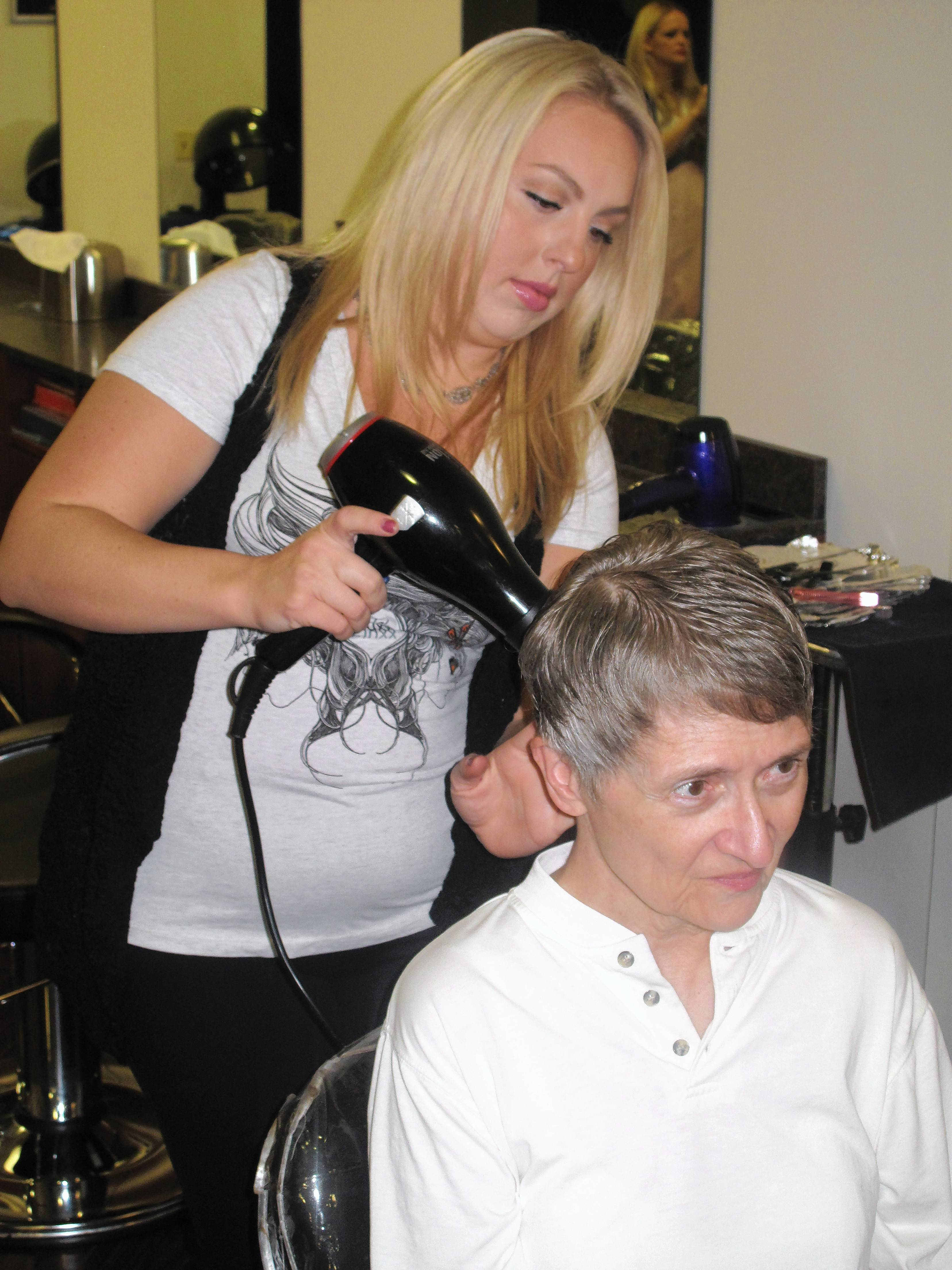 Jobseekers get 'good-luck charm' from free haircuts