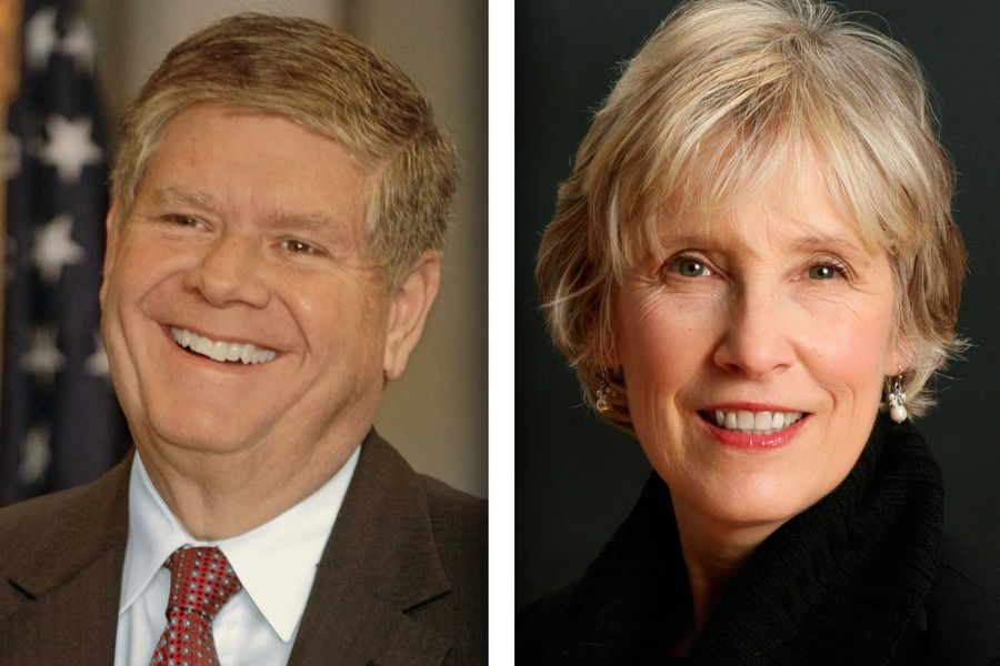 Republican Jim Oberweis,left, and Democrat Corinne Pierog and are candidates for state Senate in the 25th District.