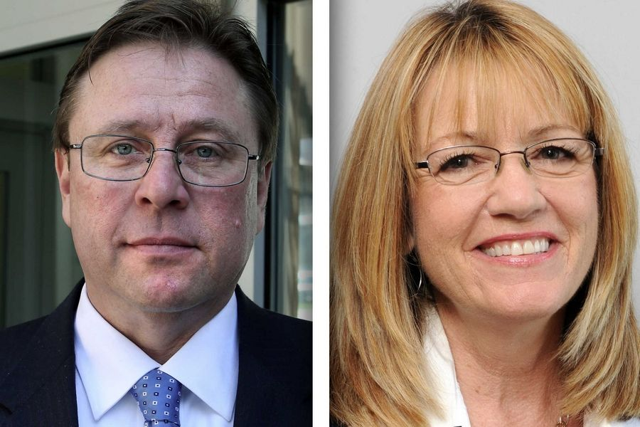 Republican Michael Amrozowicz, left, and Democrat Melinda Bush are candidates for state Senate in District 31.