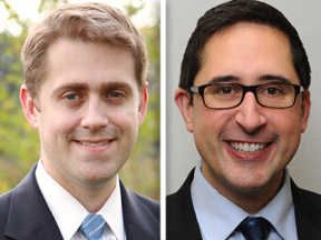 Republican challenger Rod Drobinski, left, and Democratic state Rep. Sam Yingling are candidates for the 62nd House District.
