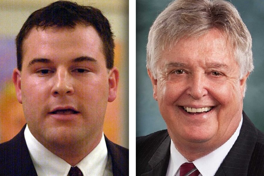 John Bartman, left, and Steven Reick are candidates for state representative in House District 63.