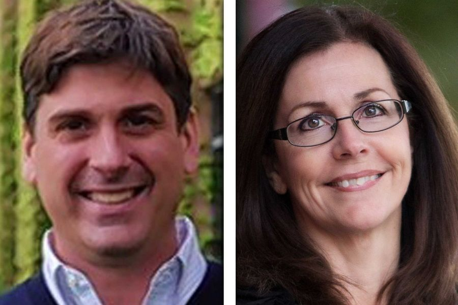 Nick Ciko, left, and Sheri Jesiel are candidates in Illinois House District 61.