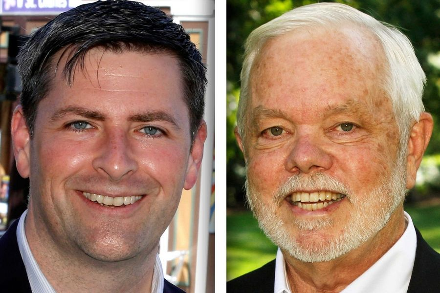 Republican Peter Breen, left, and Democrat Steve Swanson are candidates for state represenetative in House District 48