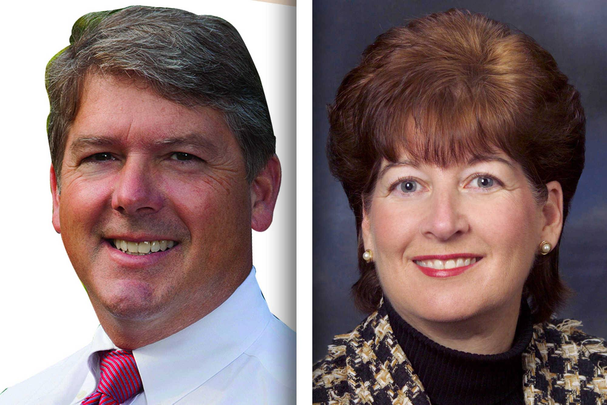 Republican Robert Haraden, left, and Democrat Mary Ellen Vanderventer are candidates for Lake County recorder of deeds.