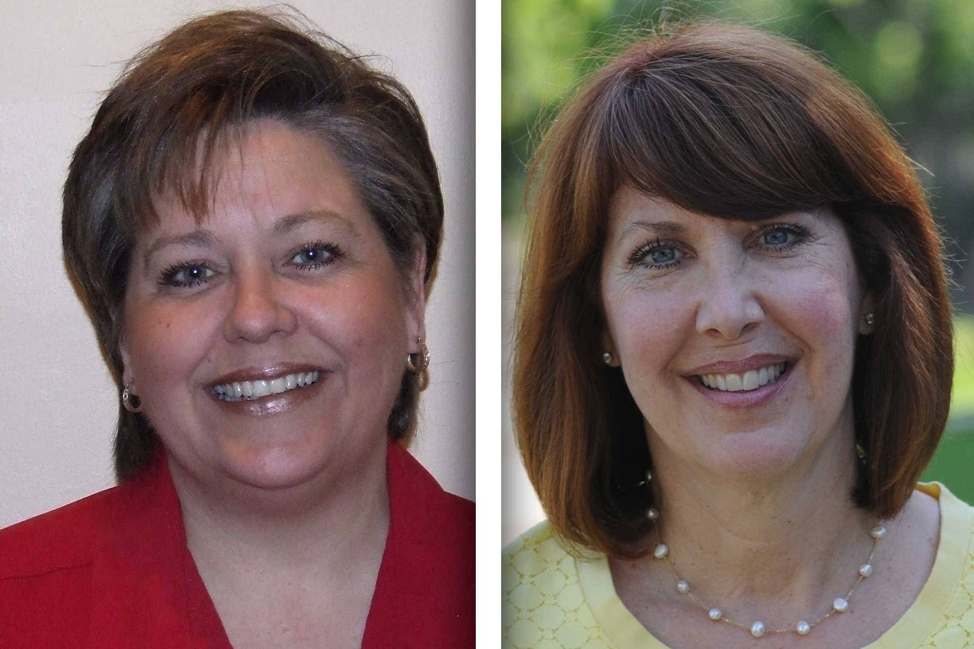 Republican Dawn Abernathy, left, and Democrat Carol Sente are candidates for state representative in House District 59.