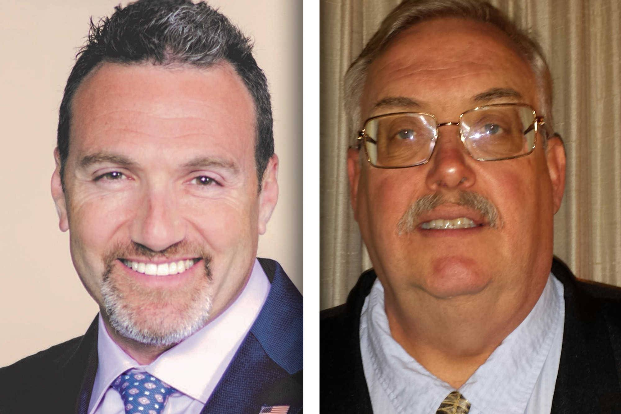Republican Howard Cooper, left, and Democrat Michael Donnenwirth are candidates for Lake County coroner.