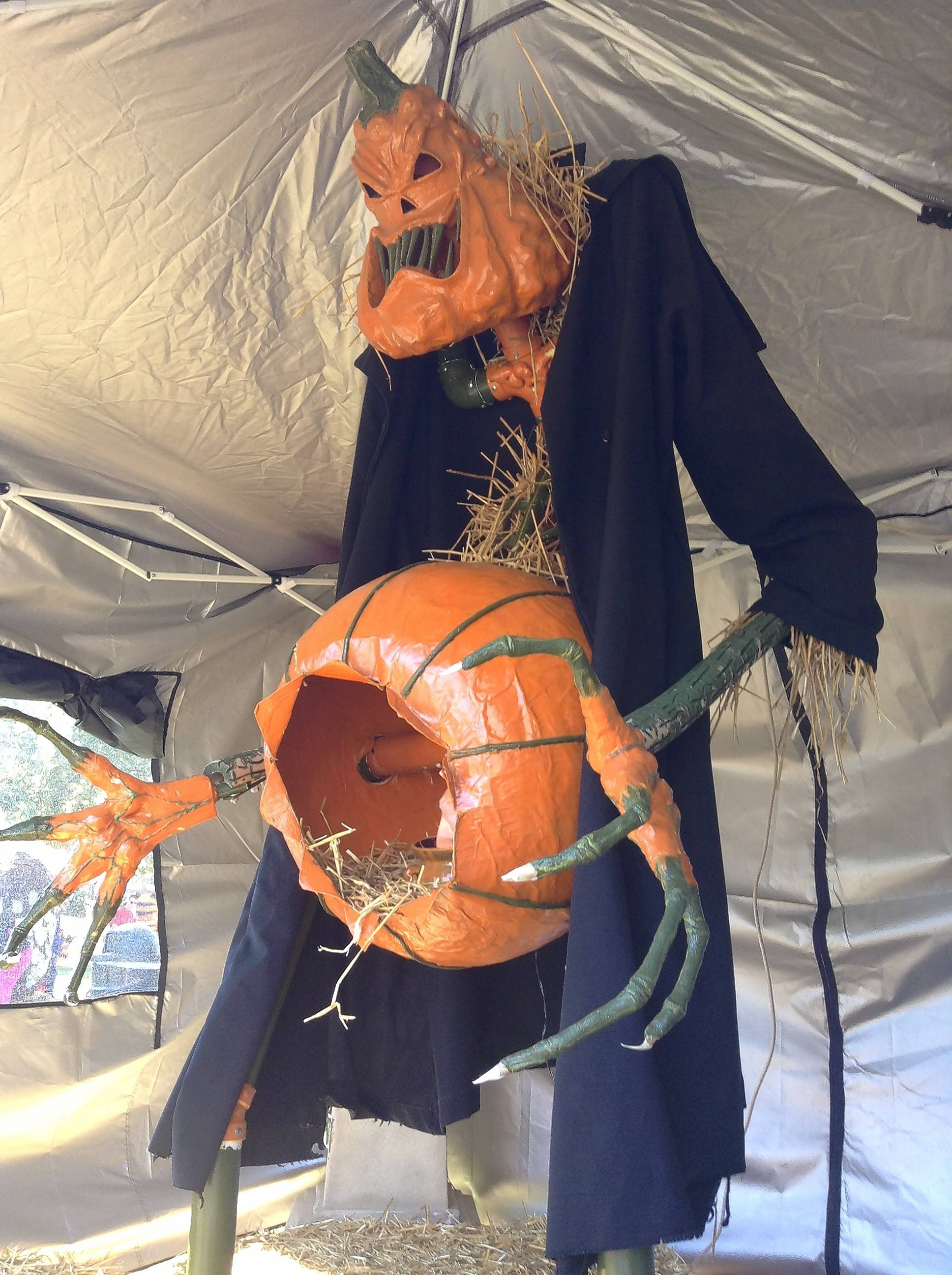 """A Halloween Nightmare"" is a first-time entry by St. Charles resident Mark Stevens in the ""mechanical"" category for the 31st annual St. Charles Scarecrow Fest."