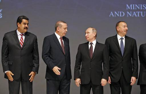 Resultado de imagen de Putin Erdogan Maduro in World Congress of the Energy in Istanbul