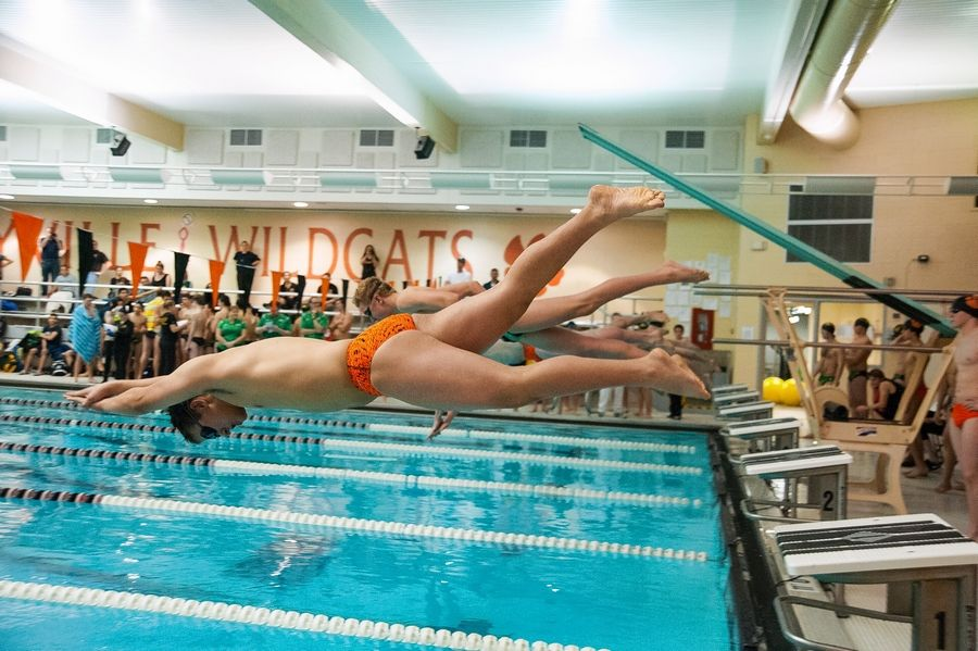 Libertyville-Vernon Hills Area High School District 128 officials have been debating whether to replace the swimming pool at Libertyville High. They've shelved plans to build a second gym at Vernon Hills High.