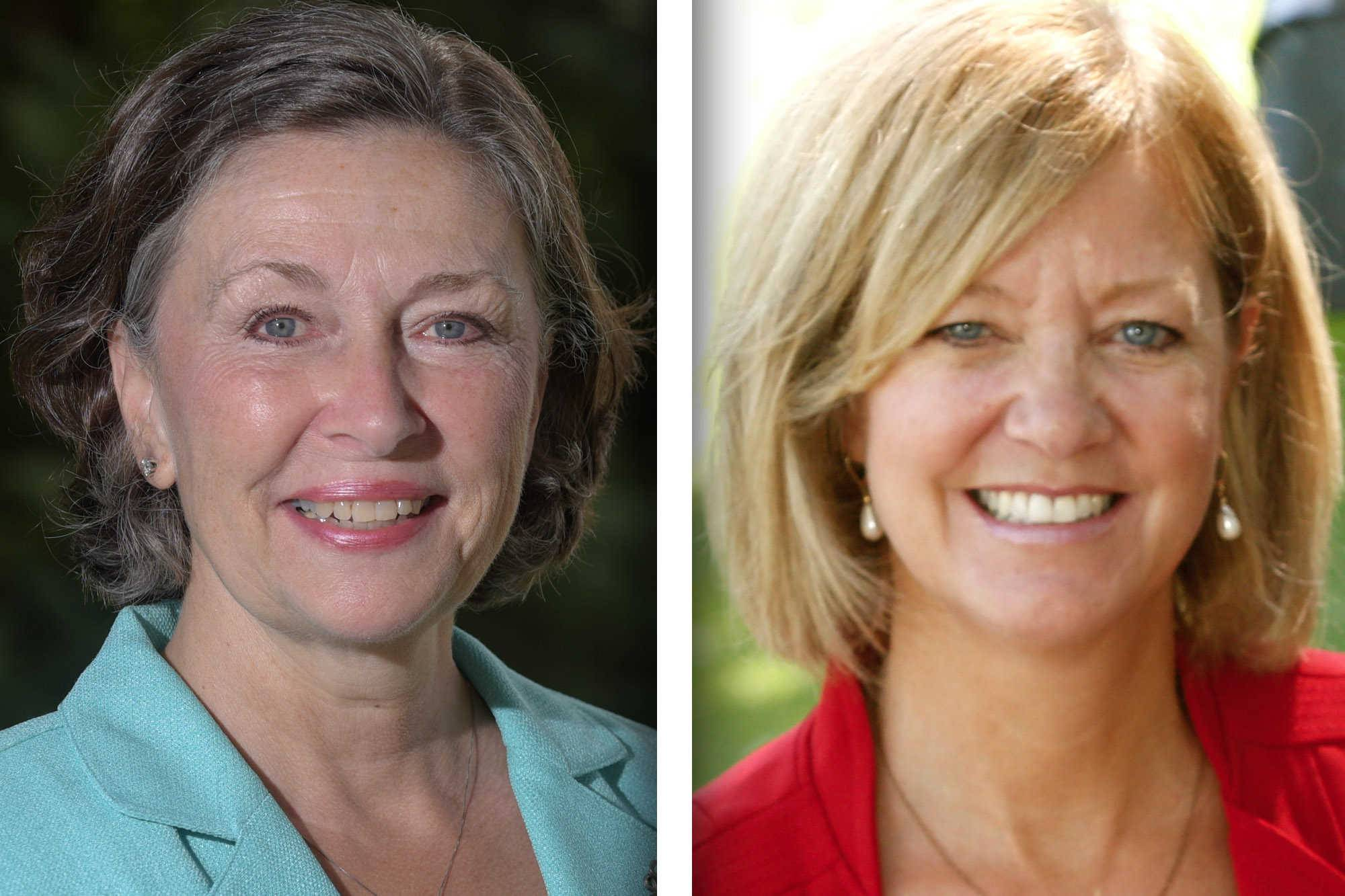 Democrat Kathleen Carrier of Carol Stream, left, is challenging Republican incumbent Jeanne Ives of Wheaton for the 42nd District state House seat representing all or parts of Wheaton, Winfield, Carol Stream, Warrenville, Lisle, West Chicago, Naperville and Woodridge.