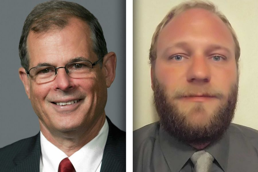 Republican Tim Whelan, left, and Democrat Brian Wolter are candidates for DuPage forest board 4.