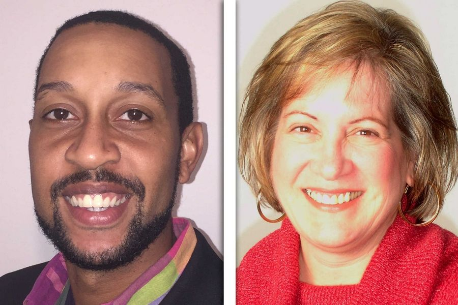 Darryln Coleman,  left, and Diane Hewitt are candidates for Lake County Board District 2