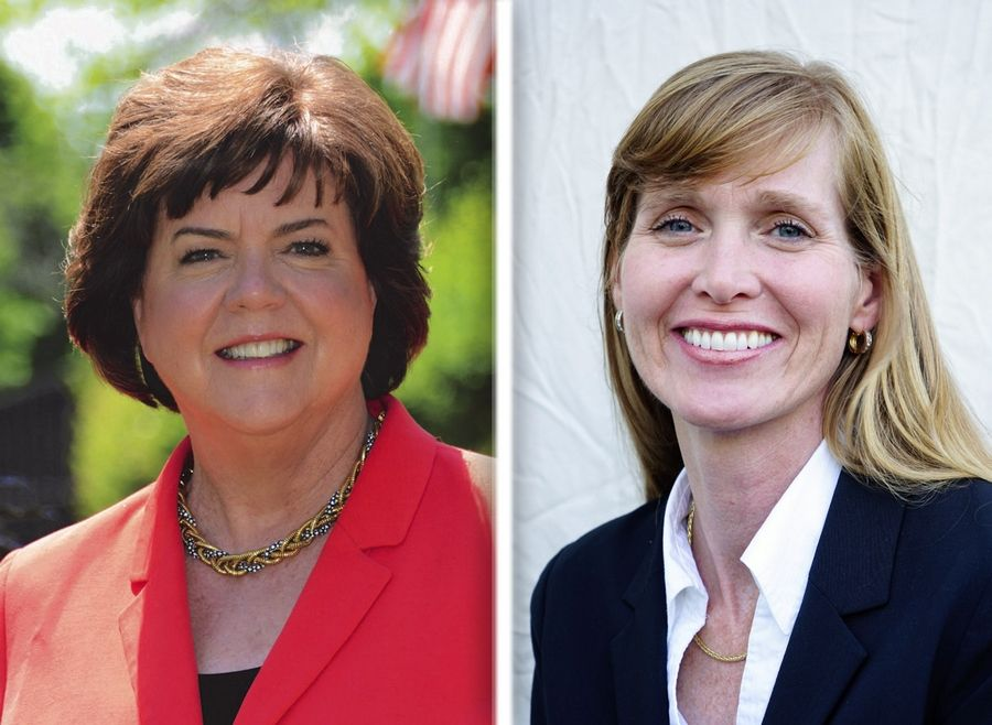 Ann Brennan, left, and Sandra Hart, right, are candidates for Lake County Board District 13.
