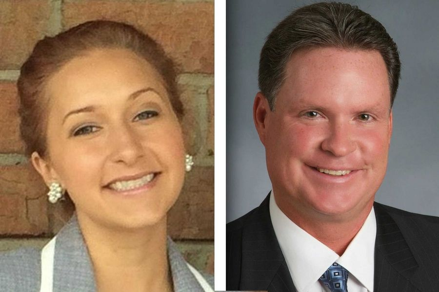 Democrat Laurie Nowak, left, and Republican Jim Zay are candidates for DuPage County board 6 (2-year seat).