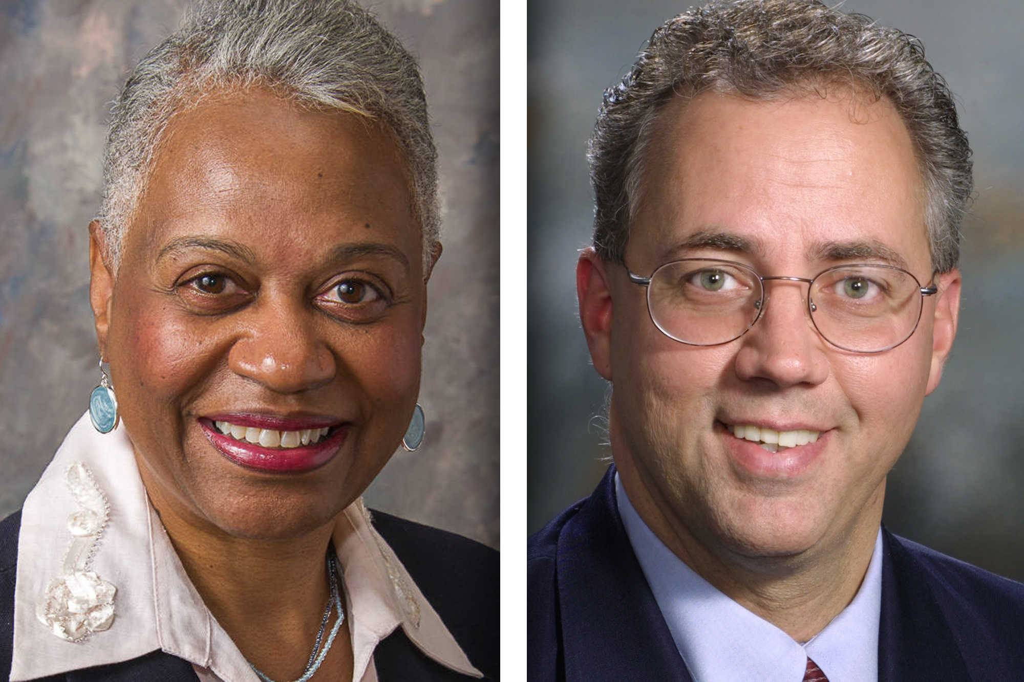 Democrat Regina Brent, left, and Republican James Healy are candidates for DuPage County board District 5 (4-year term)