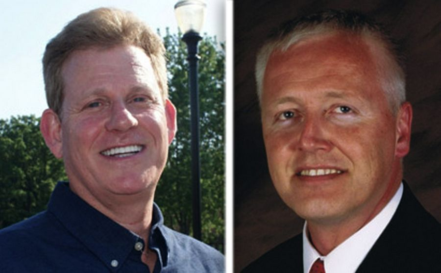 Timothy Walsh, left, and Terry Wilke, right, are candidates for Lake County Board District 16 in the 2016 election.