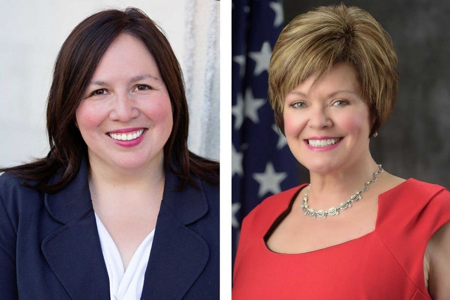 Cristina Castro, left, and Tracy Smodilla are candidates for state Senate in District 22..