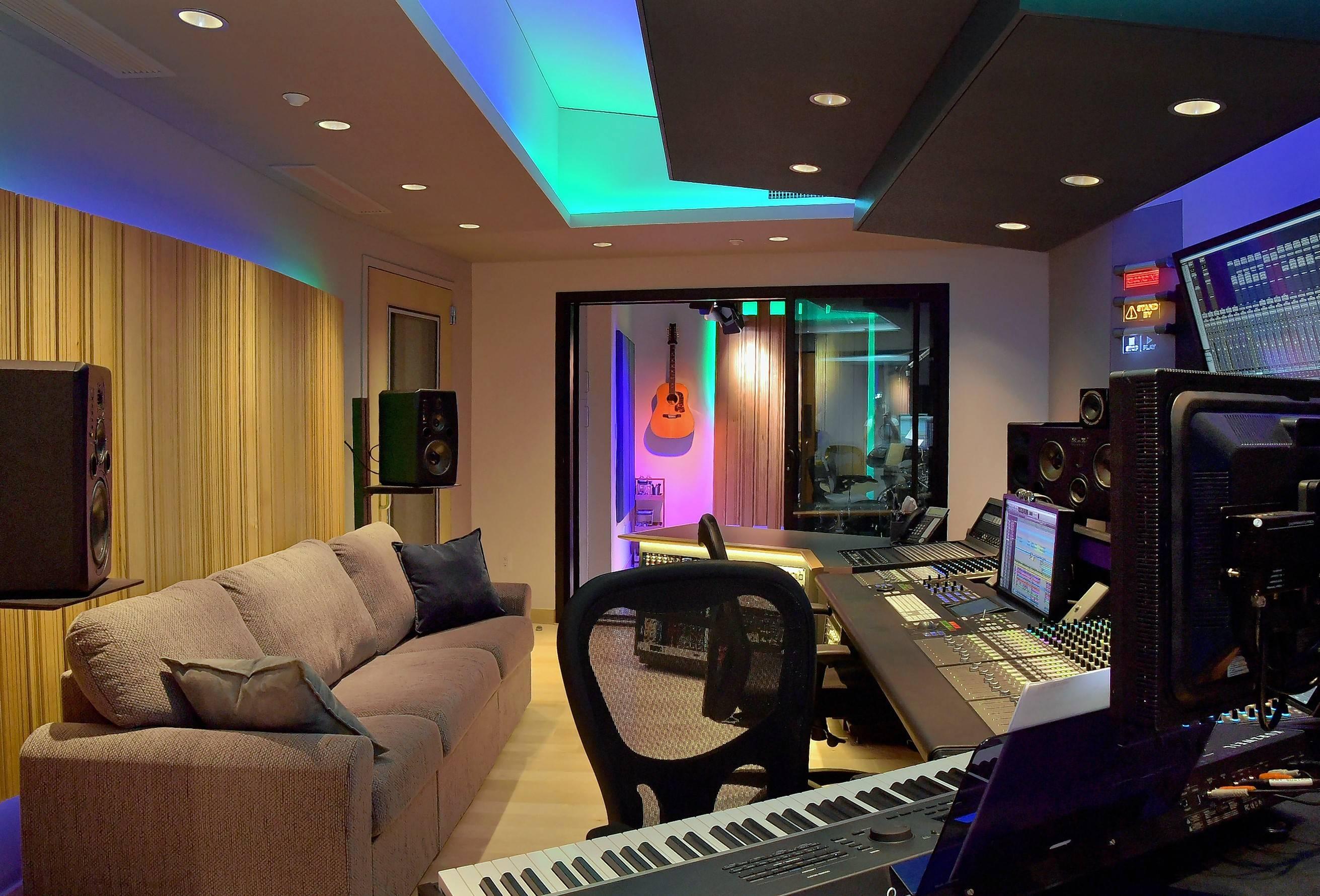 Recording studio control room design for Music studio flooring