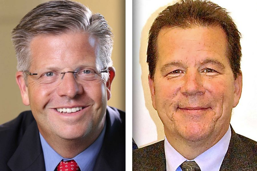 Republican Randy Hultgren, left, and Democrat Jim Walz are candidates for Congress in the 14th District.