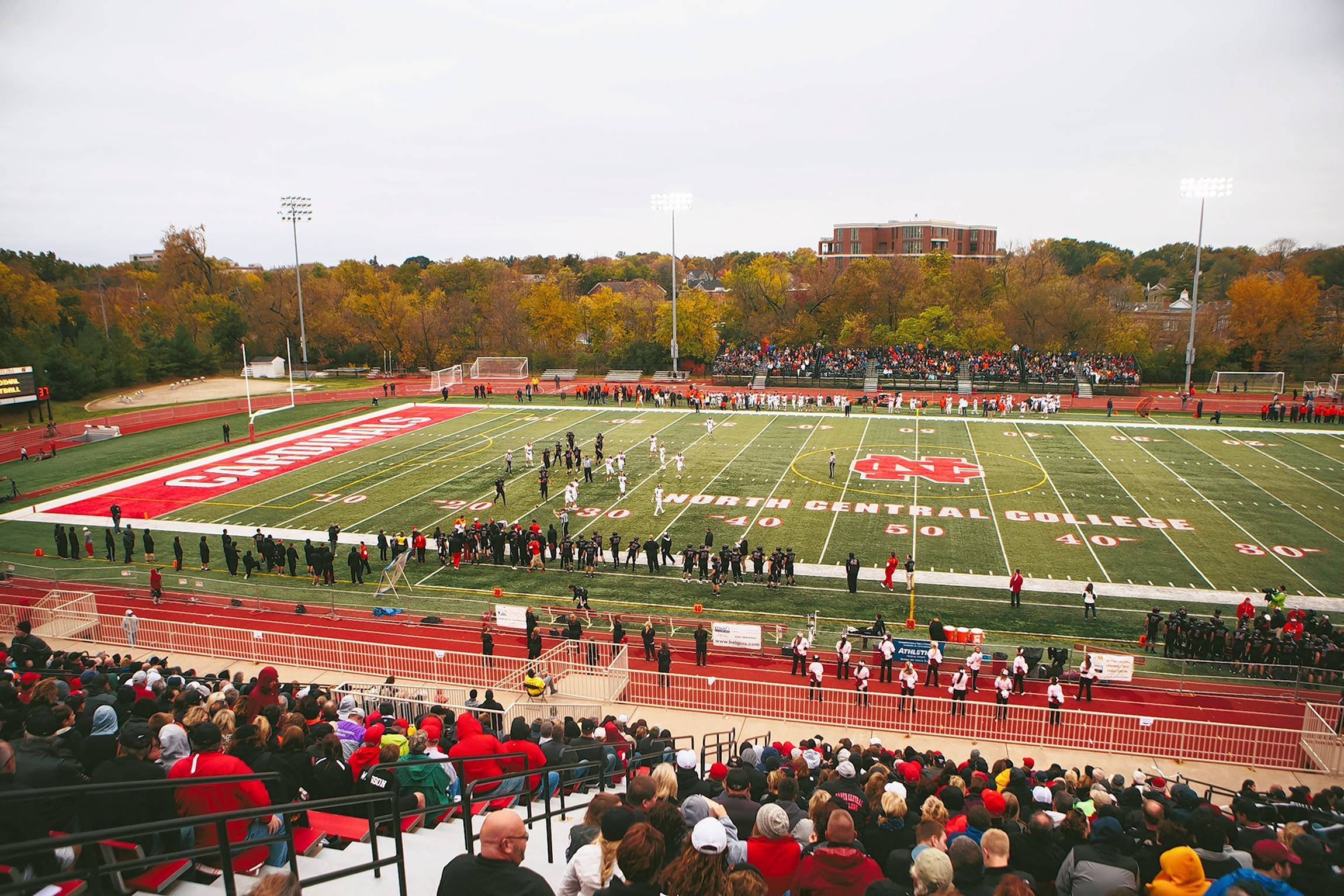 The biggest CCIW matchup of the season will kick off at 7 p.m. Saturday when the North Central Cardinals (5-0) host the Wheaton College Thunder (6-0) at Benedetti-Wehrli Stadium in Naperville. The two Division 3 powers will battle for the Little Brass Bell trophy.