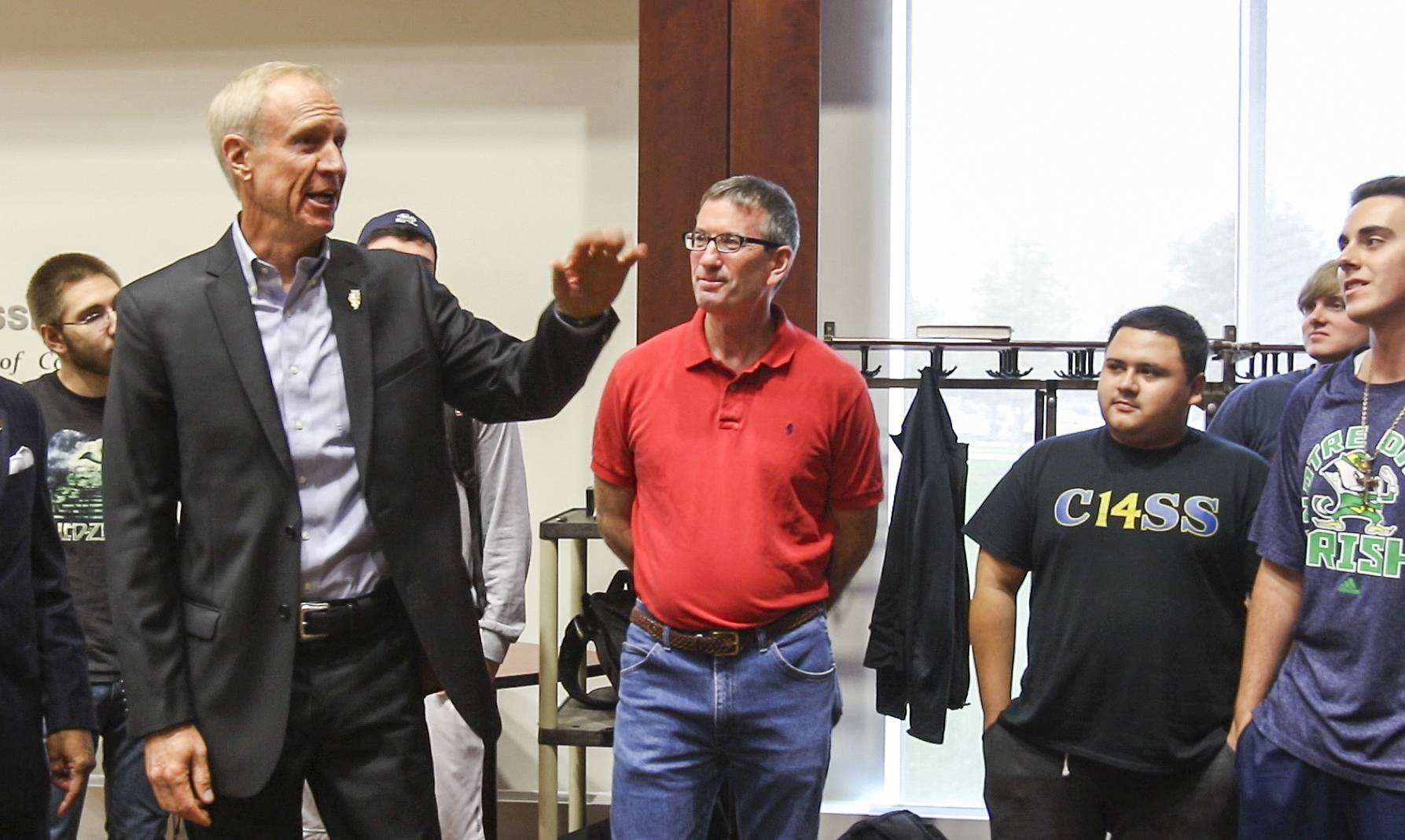 Rauner talks budget impasse, education funding