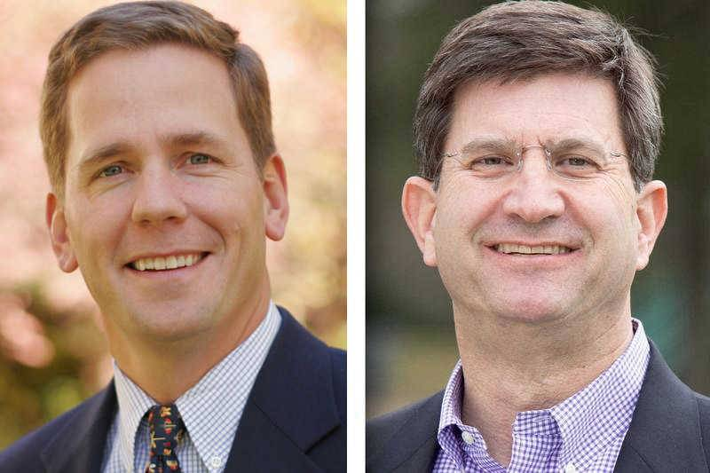 U.S. Rep. Bob Dold, left, and challenger Brad Schneider