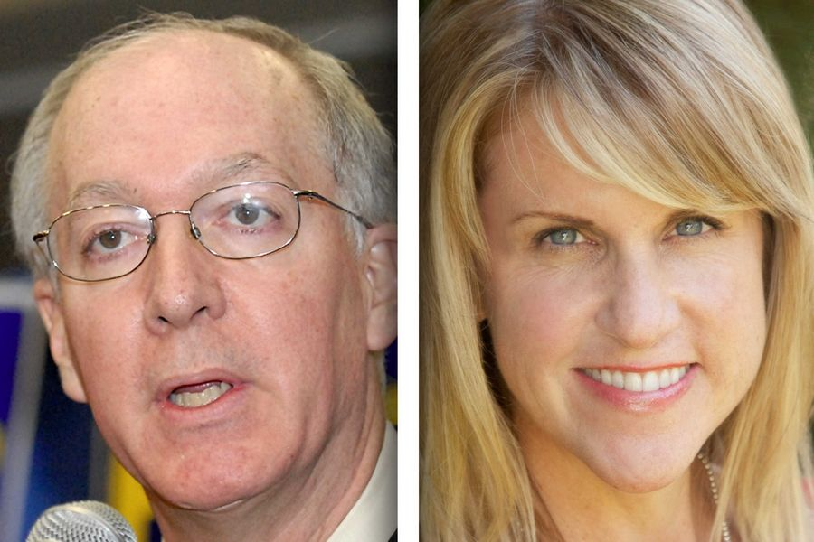 Democrat Bill Foster, left, and Republican Tonia Khouri are candidates for 11th District in the U.S. House