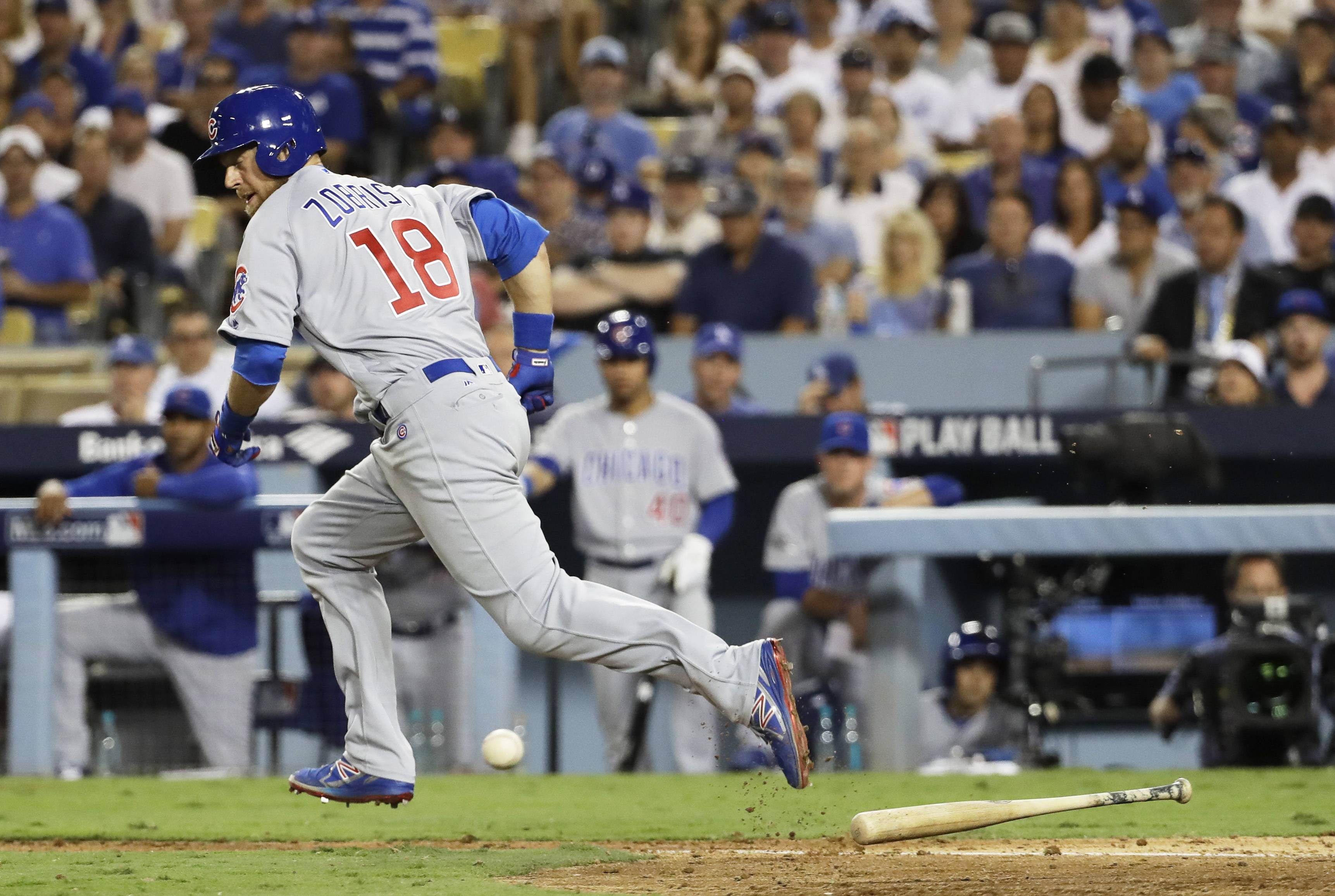 Ben Zobrist's bunt in the fourth inning on Wednesday sparked a 4-run Chicago Cubs rally, which climaxed with a 2-run homer over the right-center field fence by the struggling Addison Russell.