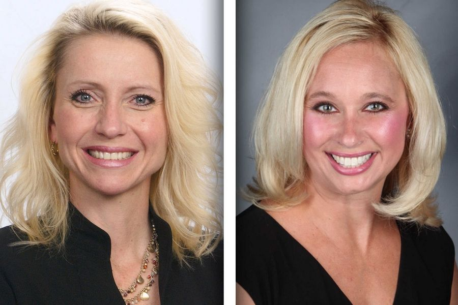 Republican Marlene Carlson, left, and Democrat Andrea Chasteen are candidates for Will County circuit clerk.