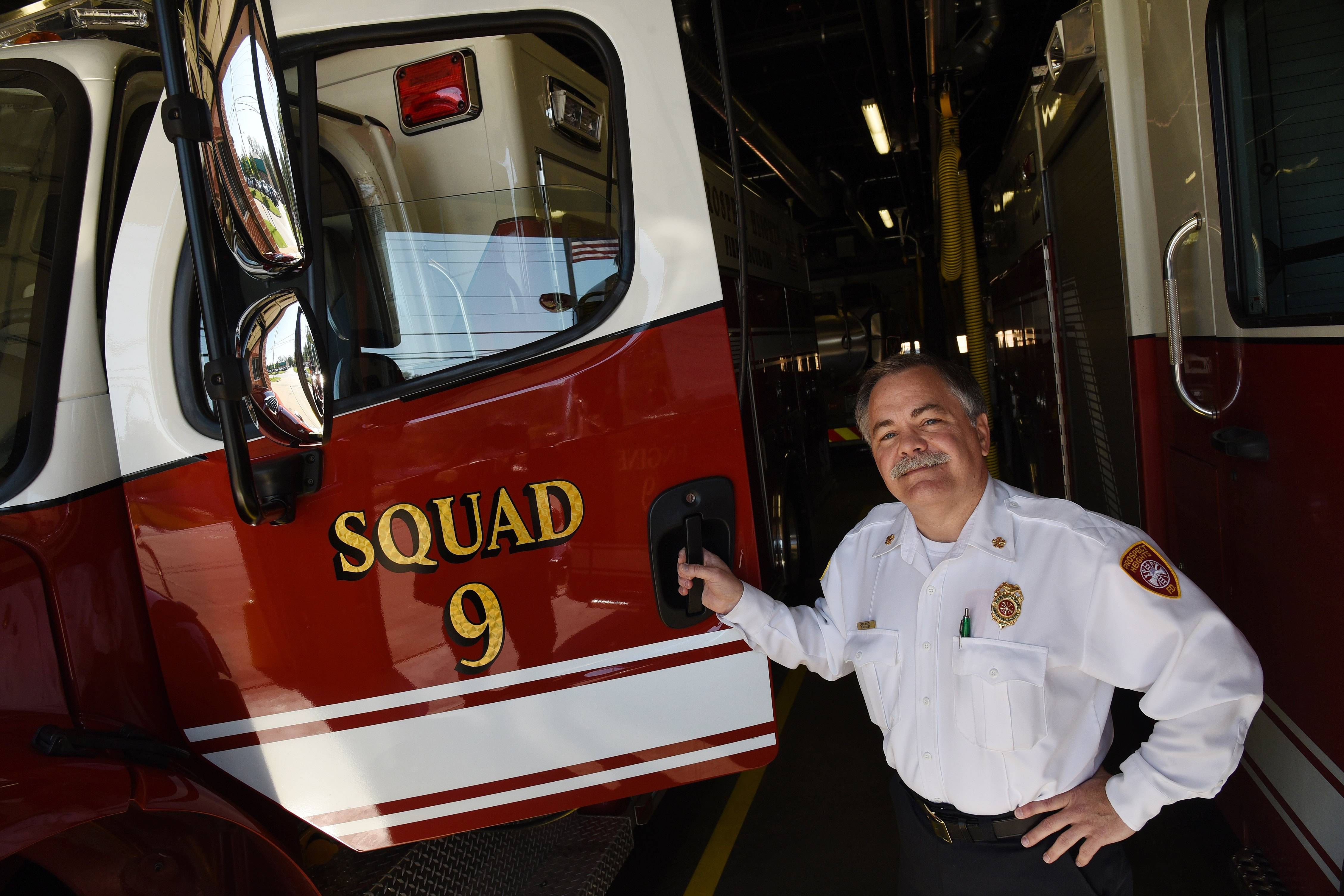 New Prospect Heights Fire Chief Drew Smith has spent 35 years with the department, including the last 16 as deputy chief.