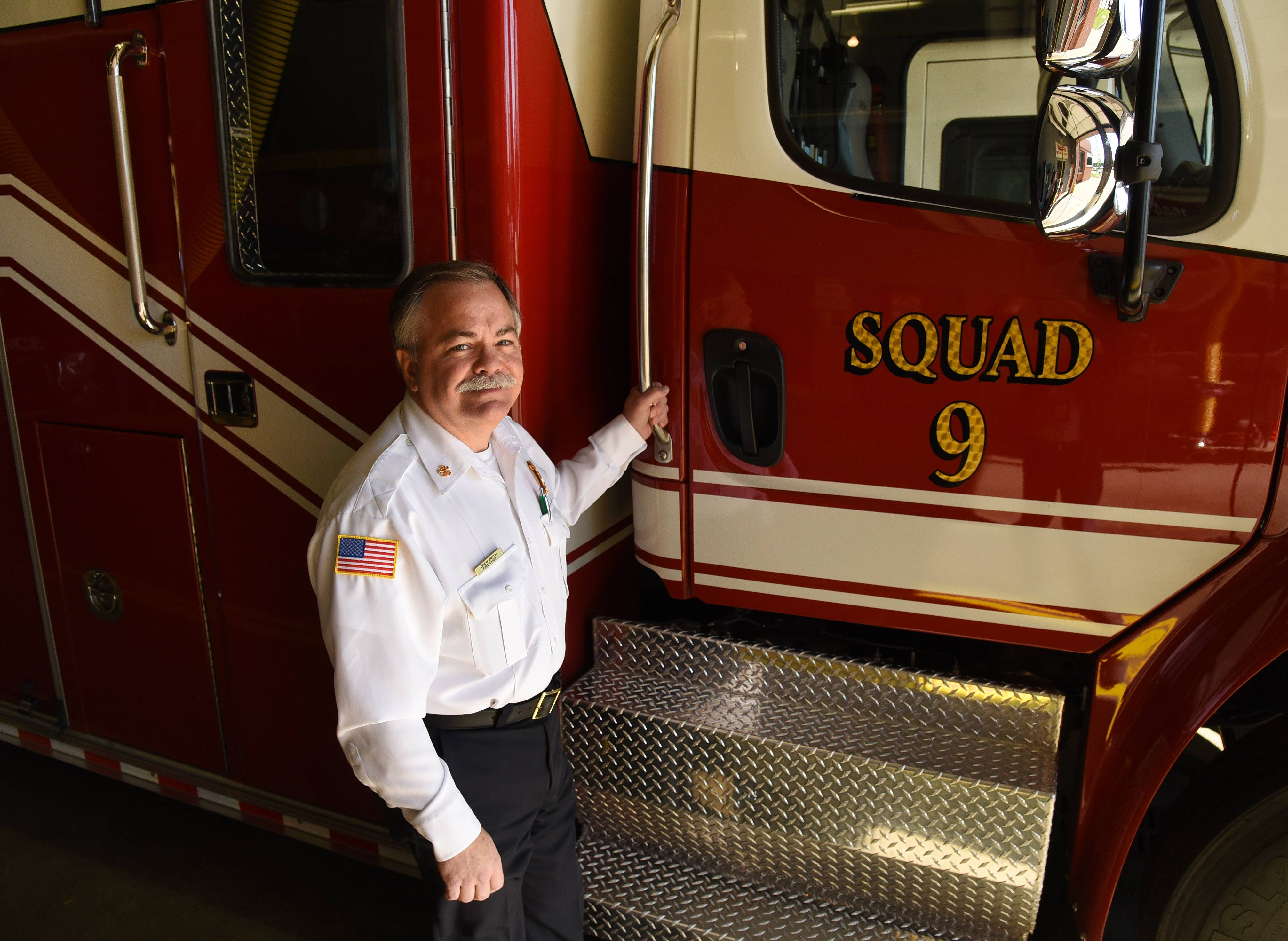 Ten years ago, new Prospect Heights Fire Chief Drew Smith's dedication to fire service -- and his community -- was recognized when he was inducted into Prospect High School's Distinguished Alumni Hall of Fame.