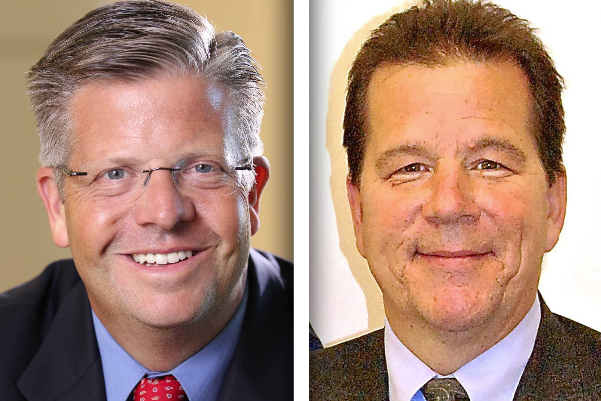 Republican Randy Hultgren, left, and Democrat Jim Walz are candidates for 14th Congressional District seat.