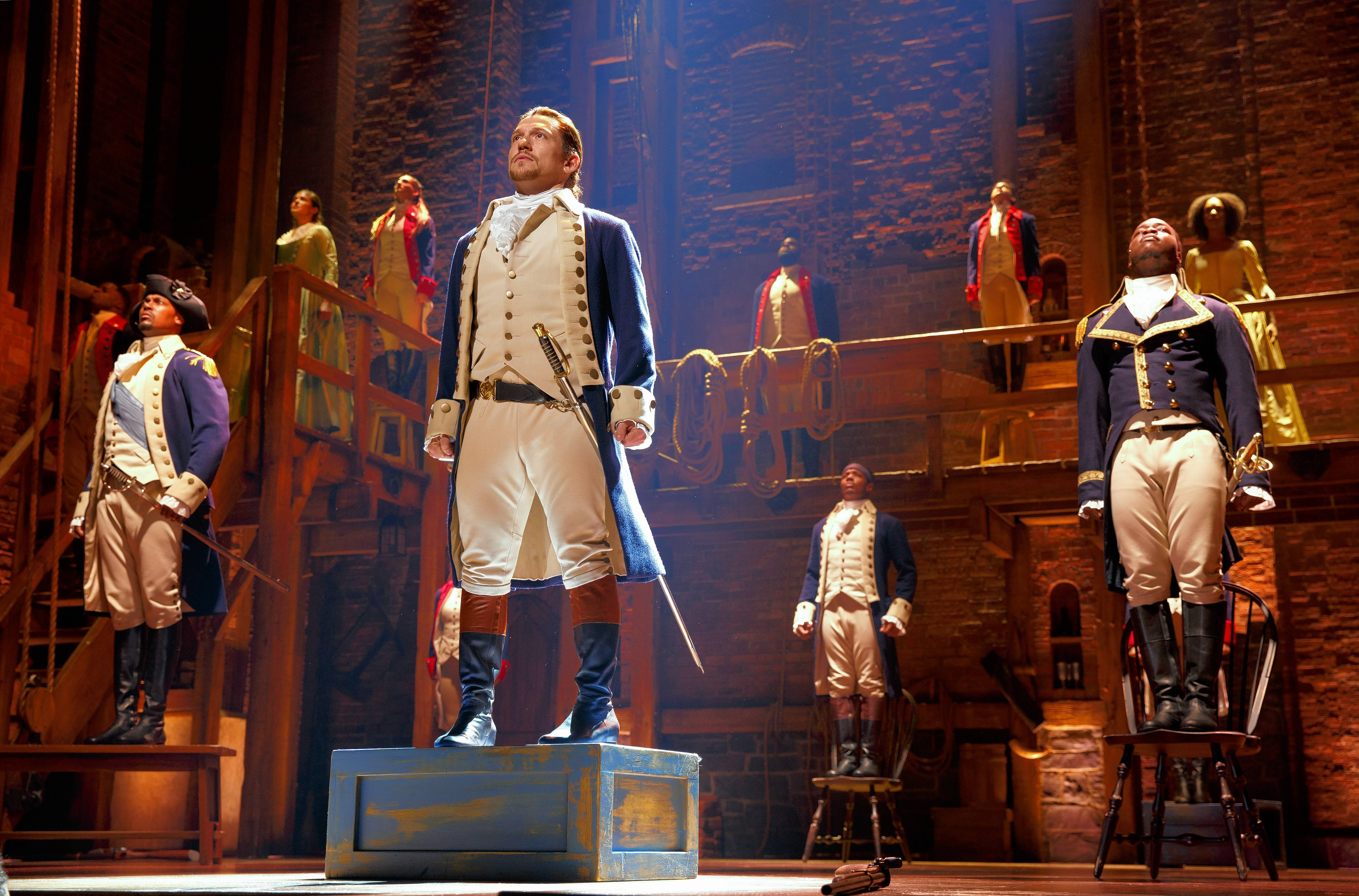 "The Broadway blockbuster ""Hamilton,"" by composer/lyricist Lin-Manuel Miranda and based on Ron Chernow's biography of Founding Father Alexander Hamilton, opened Wednesday in Chicago."