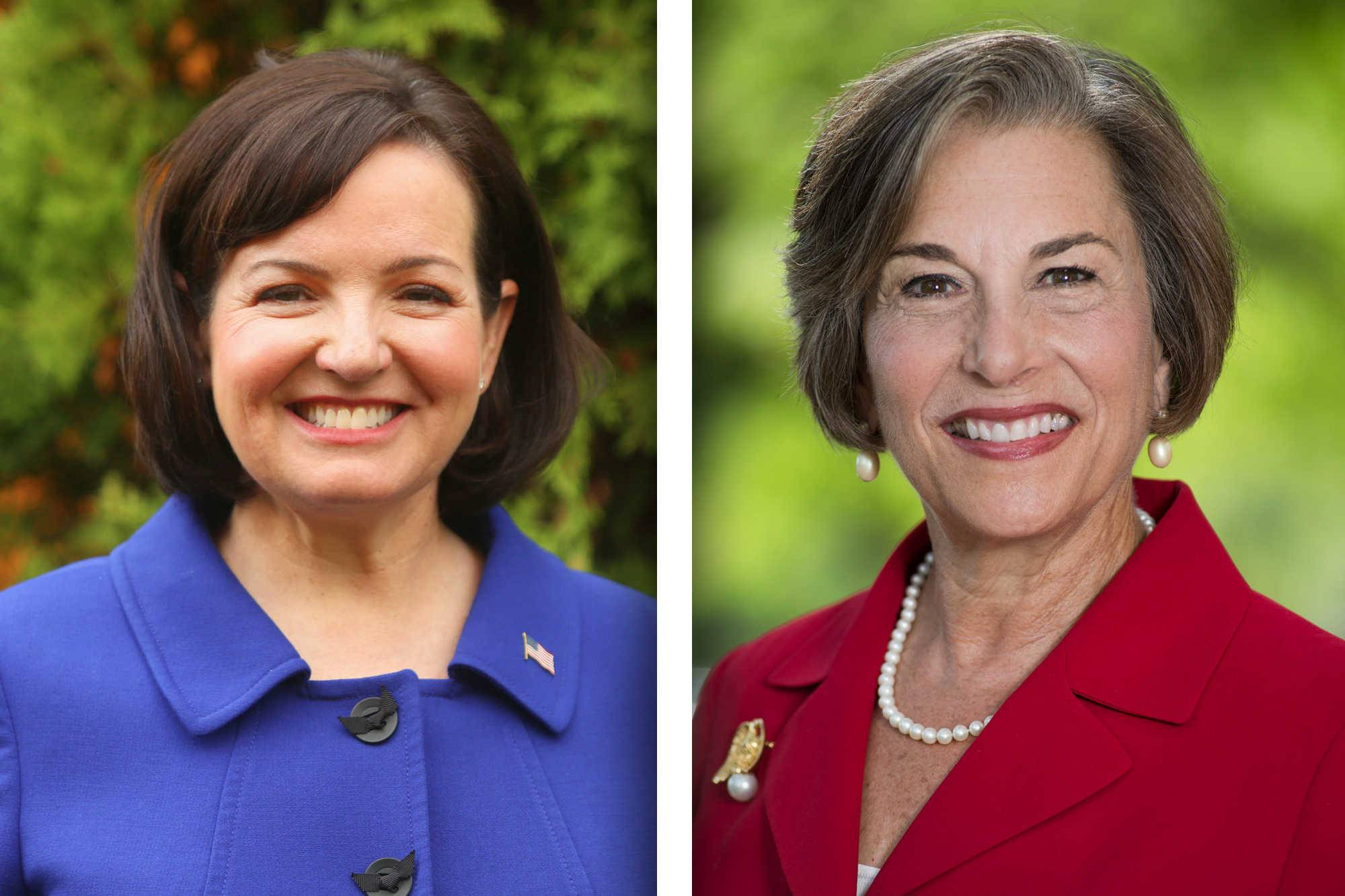 Republican Joan McCarthy Lasonde, left, and Democrat Jan Schakowsky are candidates for the 9th Congressional District seat.