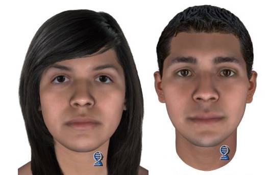 Police have been working with a DNA technology company since August to create images of what Baby Hope's parents may look like. These are profiles of what they may look like at age 15.