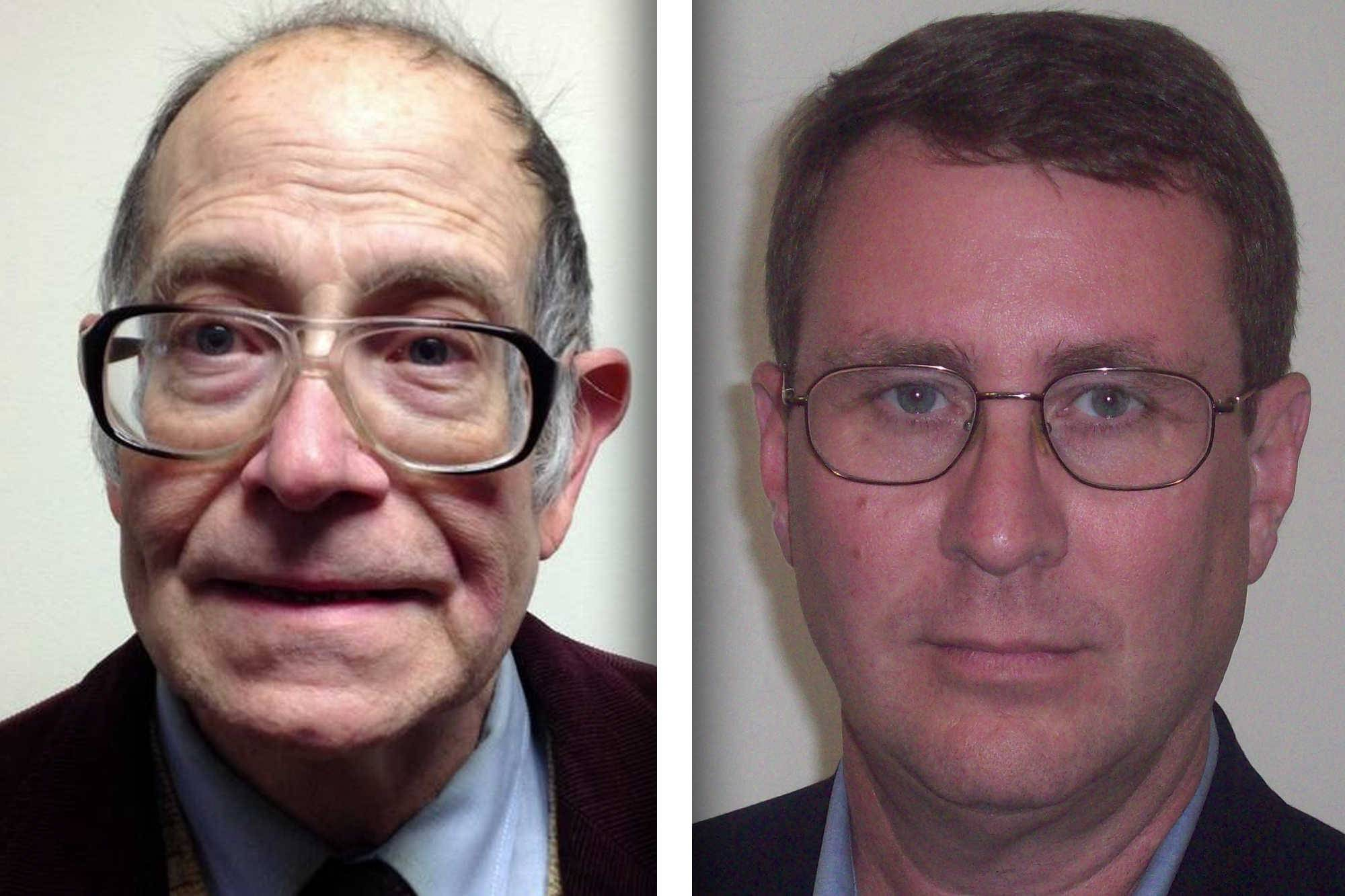 Democrat Randy Hopp, left, and Republican Douglas Scheflow are candidates for District 22 of the Kane County Board.
