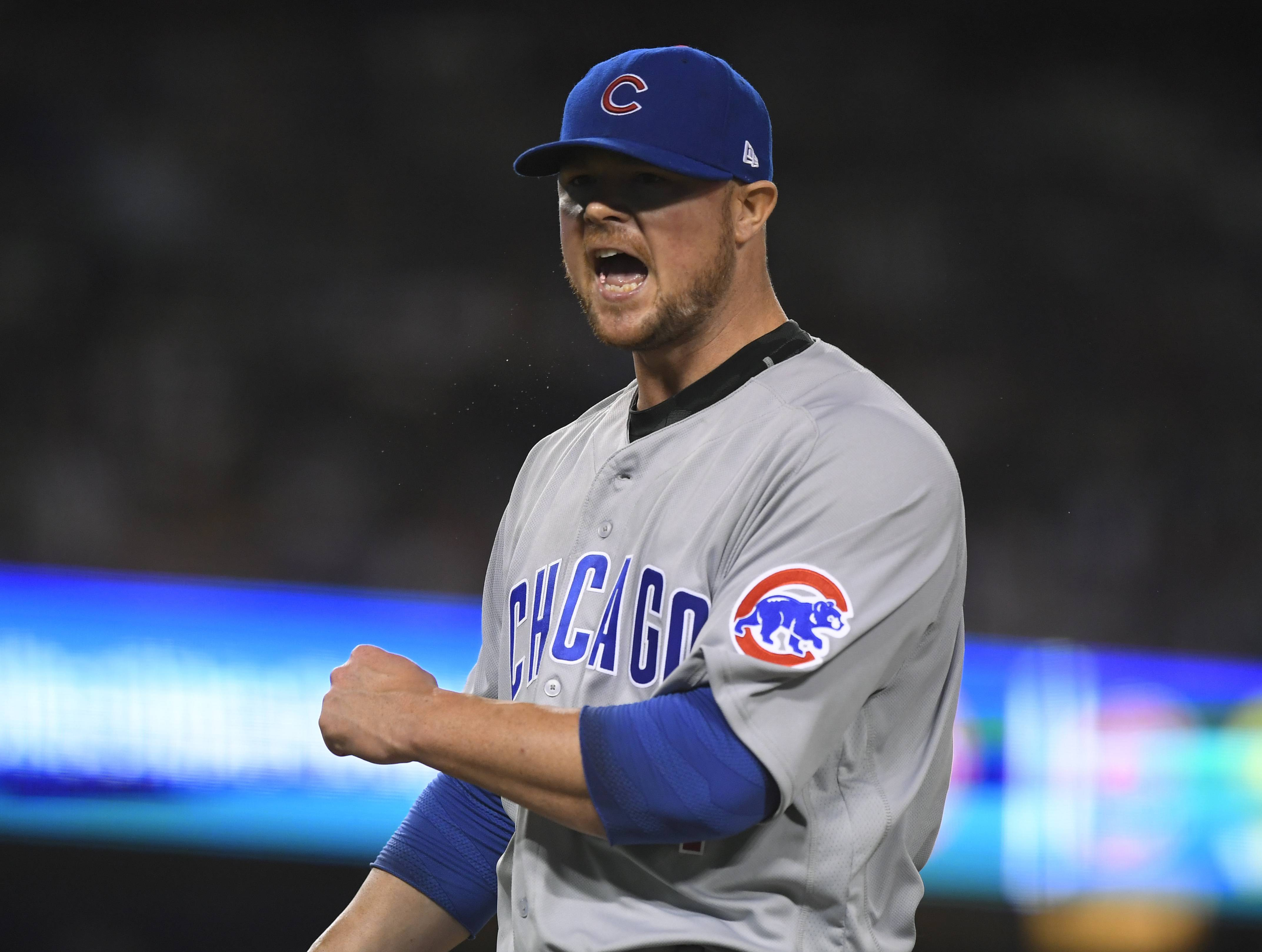 Chicago Cubs left-hander Jon Lester has been exceptionally good in the postseason, making him the ace of the pitching staff.