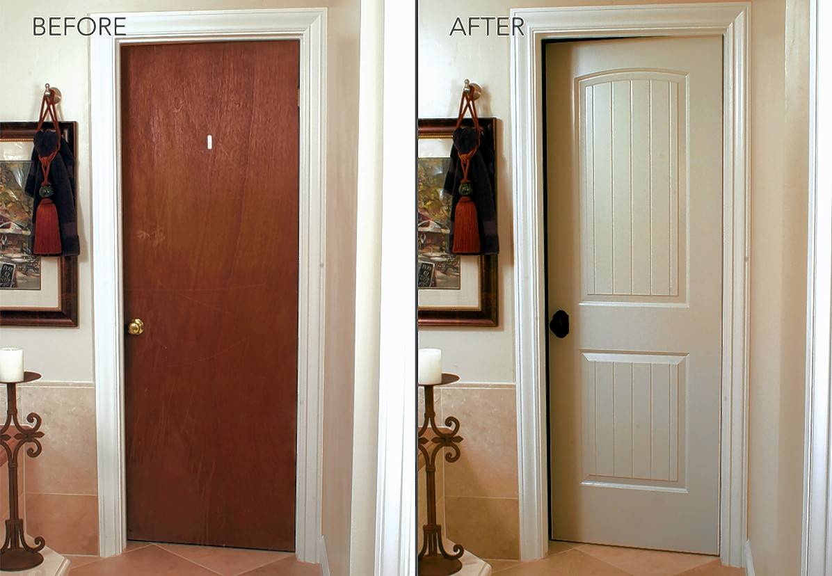 HomeStory's custom replacement doors are made in the factory to perfectly fit your existing door frame.