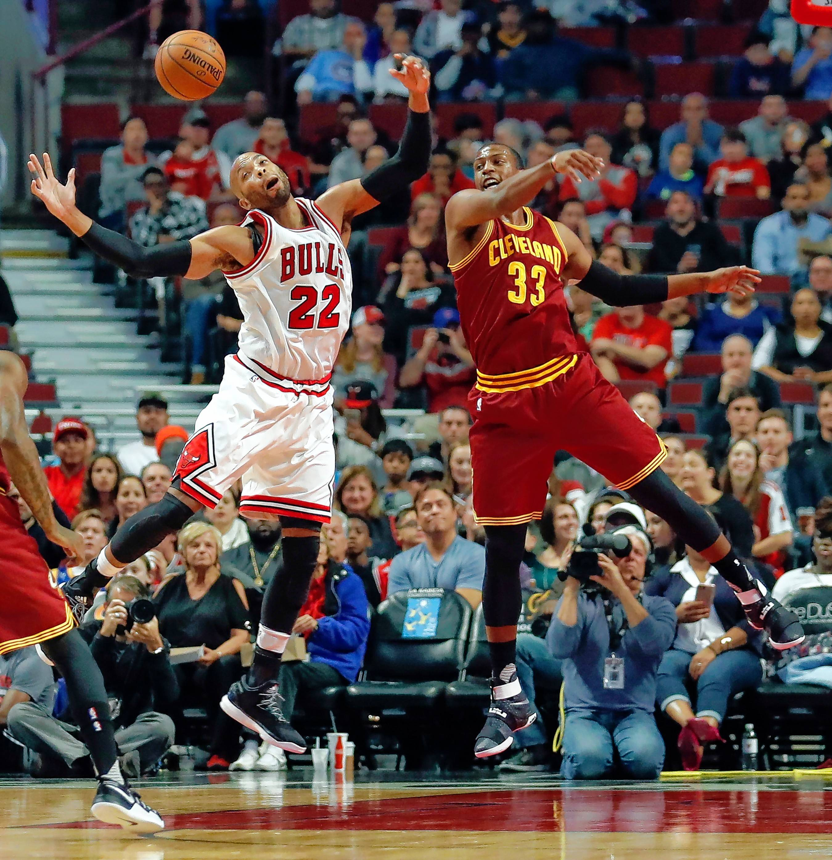 Chicago Bulls' Taj Gibson (22) was the Bulls' leading scorer during the preseason, averaging 13.8 points while shooting 64 percent. He also lead the team in rebounds with 7.7. But Gibson's place in the starting lineup for the regular season is not yet locked in.