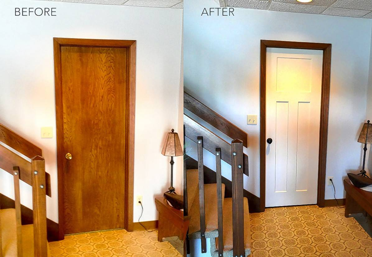 A Digital Measuring System Is Used To Measure The Door Frame And Create A  Custom Replacement