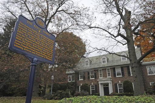 "FILE - In this Oct. 25, 2012, file photo, a blue state historical marker sits outside Grace Kelly's family's home in Philadelphia. The Philadelphia home where Oscar-winning actress Kelly grew up and accepted a marriage proposal from Prince Rainier III of Monaco in 1955 is now in the hands of the royal family. Kelly's son, Prince Albert, tells People Magazine, Friday, Oct. 21, 2016, he was the recent purchaser of the East Falls home, which he called ""very special to our family."" His mother, the beloved actress, died in 1982.(April Saul/The Philadelphia Inquirer via AP, File)"