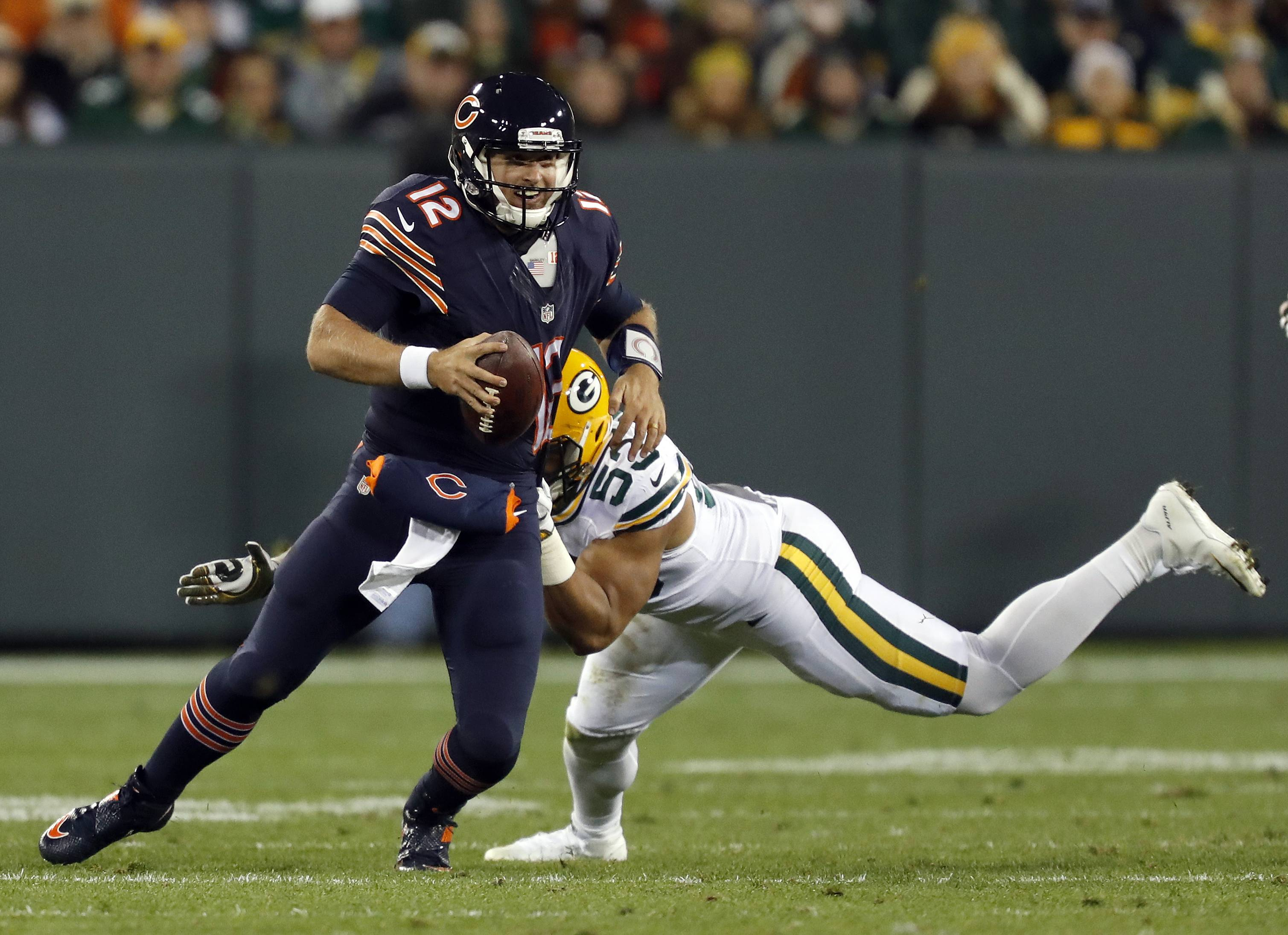Cutler still not cleared, test of Vikings may fall to Barkley