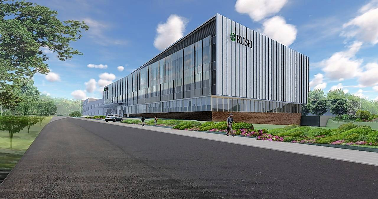 COURTESY OF RUSH UNIVERSITY MEDICAL CENTER Rush University Medical Center and Midwest Orthopaedics at Rush said Tuesday they are building a new multi-million-dollar professional building and surgery center in Oak Brook.
