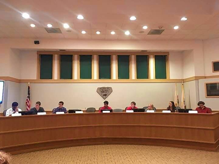 Students from Buffalo Grove and Stevenson high schools took seats as Buffalo Grove village trustees at Monday's board meeting. It was all a part of the village's annual Civics Forum, which lets students experience a day in the life of local government leaders.