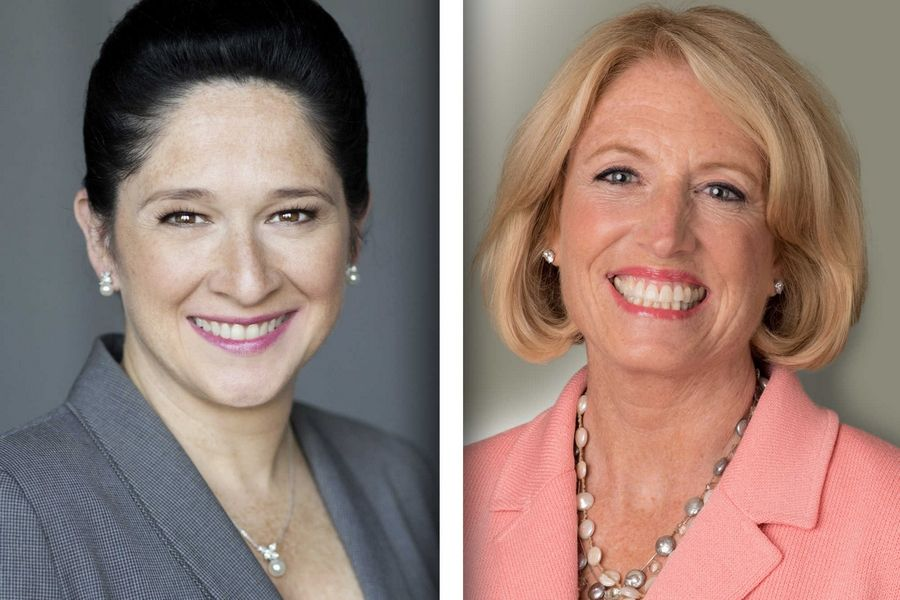 Democrat Susana Mendoza, left, and Republican Leslie Munger are candidates for Illinois comptroller.