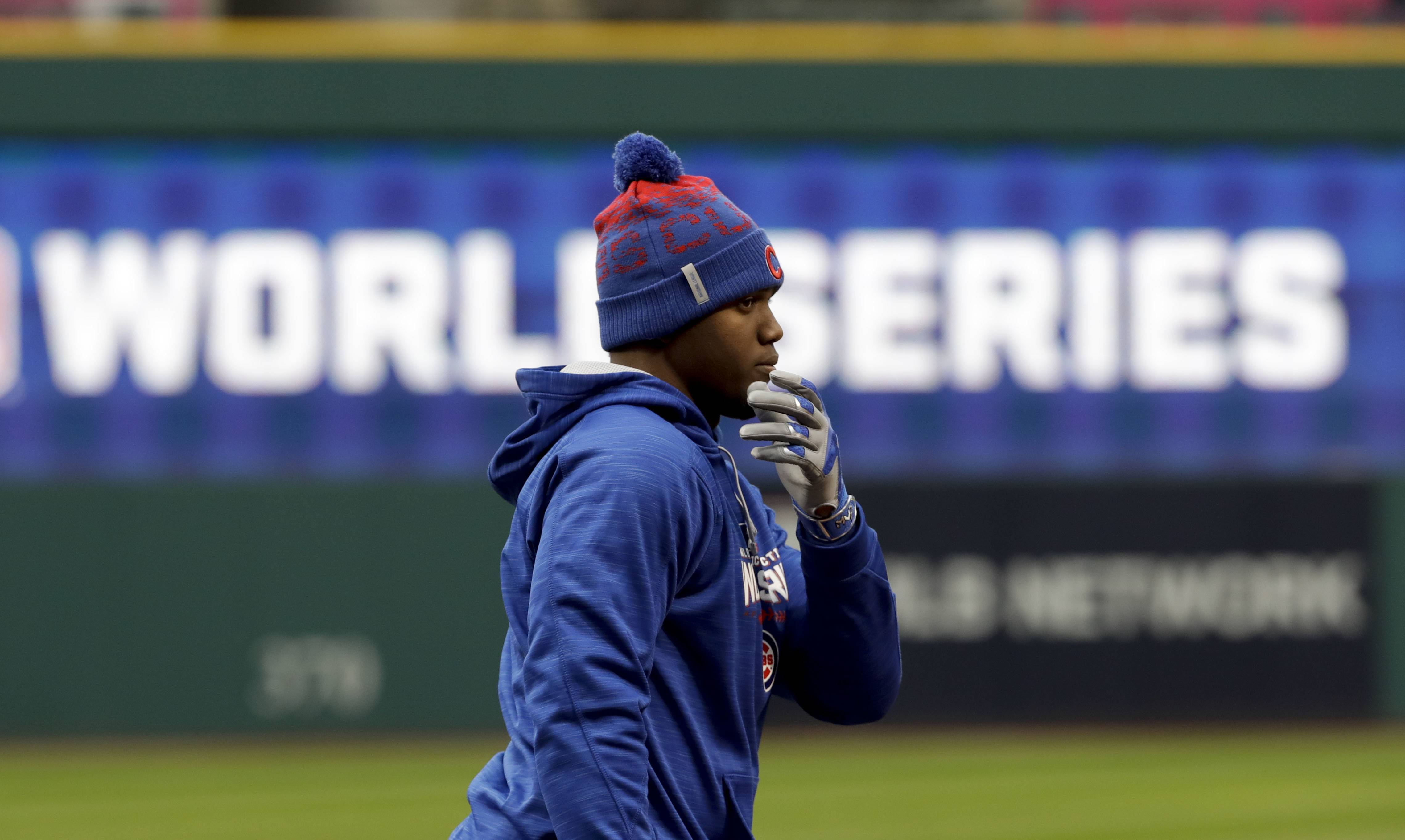 Chicago Cubs left fielder Jorge Soler will bat eighth and play right field tonight in Game 2 of the World Series.
