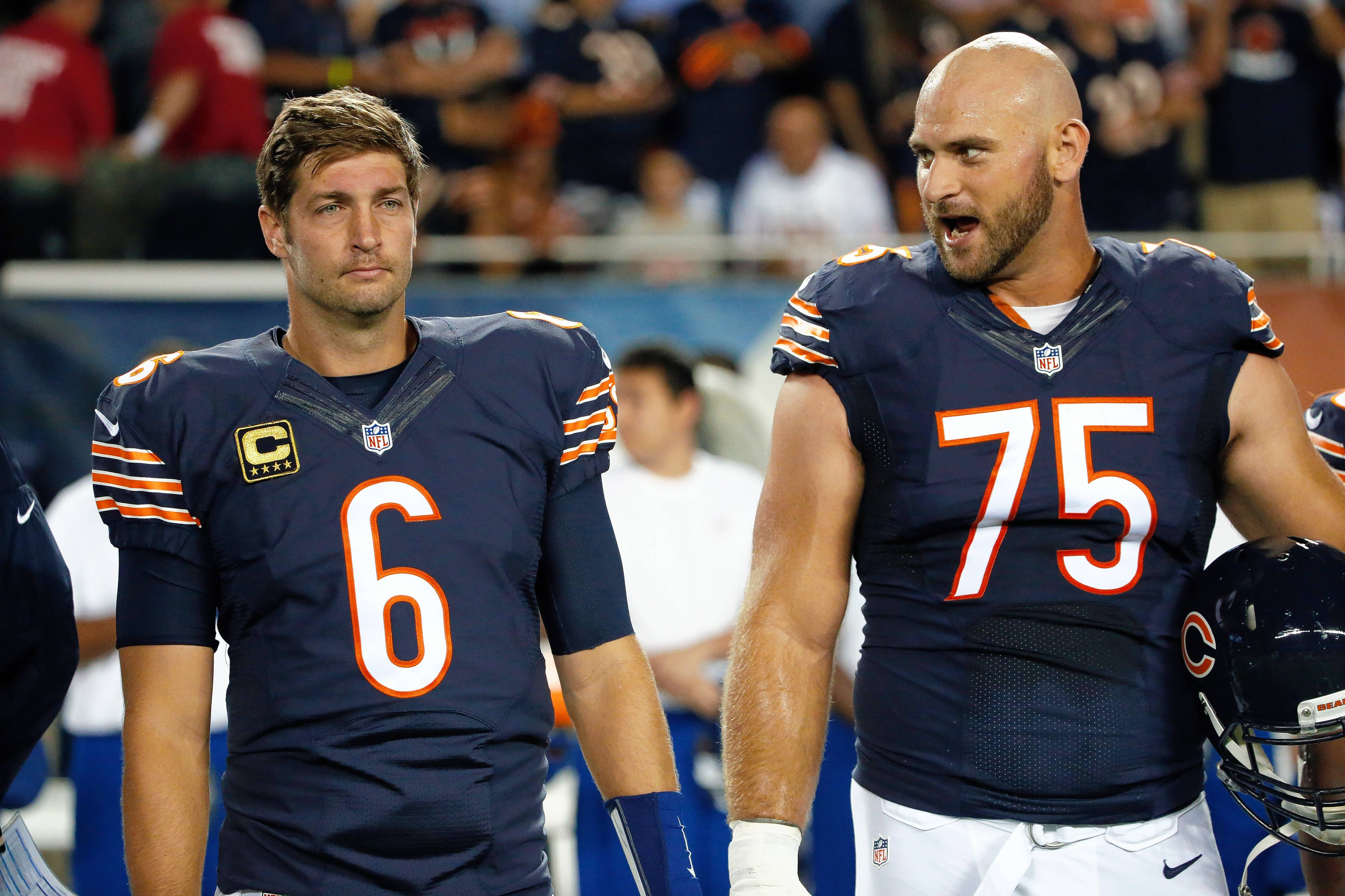 O-line hurting as Bears, Cutler face NFL's top defense